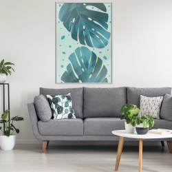 Poster - Pastel Monstera Leaves