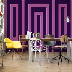Purple Geometric Pattern Photo Wallpaper Wall Mural