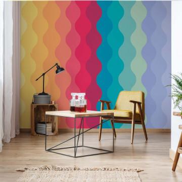 Rainbow Colours Modern Gradient Pattern Photo Wallpaper Wall Mural