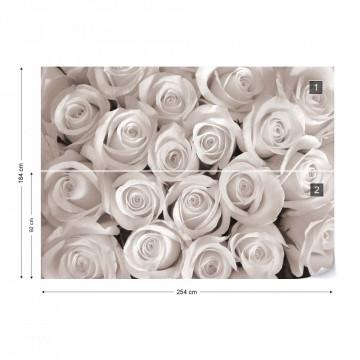 Sepia Roses Photo Wallpaper Wall Mural