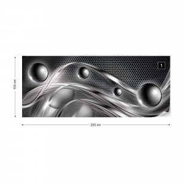 Silver Modern Abstract Design Photo Wallpaper Wall Mural