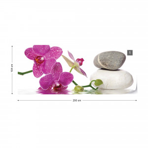 Spa Orchids Stones Photo Wallpaper Wall Mural