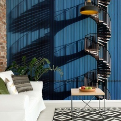 Spiral Staircase And Shadows Photo Wallpaper Mural