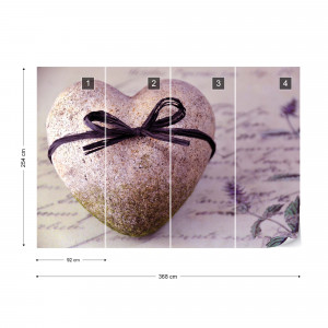 Stone Heart Spa Vintage Chic Photo Wallpaper Wall Mural