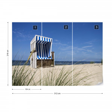 Sylt Beach Sea Chair Photo Wallpaper Wall Mural