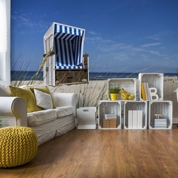 Sylt Beach Sea Chair Photo Wallpaper Wall Mural