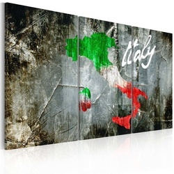 Tablou - Artistic map of Italy - triptych