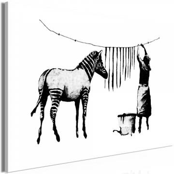 Tablou - Banksy: Washing Zebra (1 Part) Wide