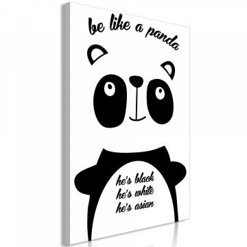 Tablou - Be Like a Panda (1 Part) Vertical