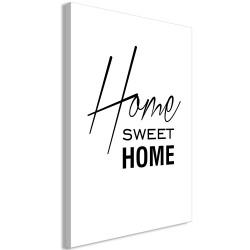 Tablou - Black and White: Home Sweet Home (1 Part) Vertical