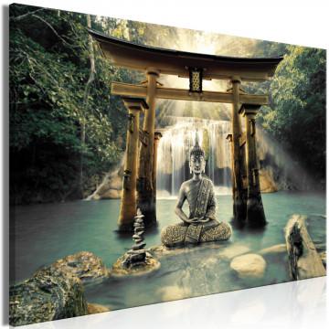 Tablou - Buddha Smile (1 Part) Wide