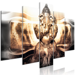 Tablou - Buddha Style (5 Parts) Golden Wide