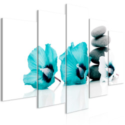 Tablou - Calm Mallow (5 Parts) Wide Turquoise
