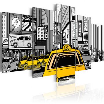 Tablou - Cartoon taxi