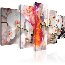Tablou - Colorful background and orchids