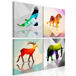 Tablou - Colourful Animals (4 Parts)