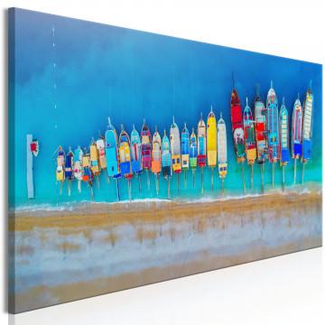 Tablou - Colourful Boats (1 Part) Narrow