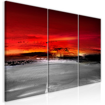 Tablou - Crimson Landscape (3 Parts)