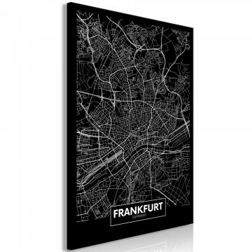 Tablou - Dark Map of Frankfurt (1 Part) Vertical