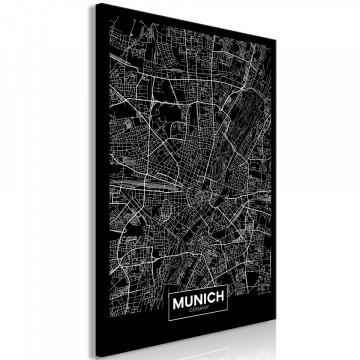 Tablou - Dark Map of Munich (1 Part) Vertical