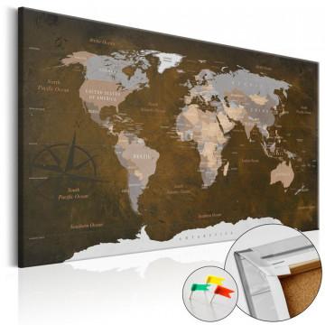 Tablou din plută - Cinnamon Travels [Cork Map]