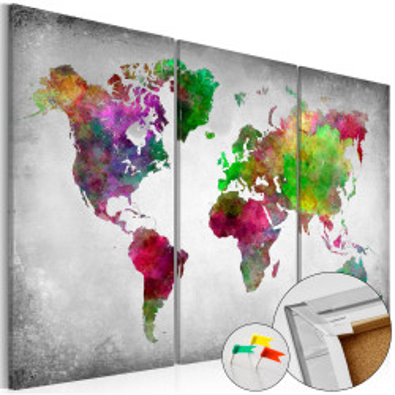 Tablou din plută - Diversity of World [Cork Map]
