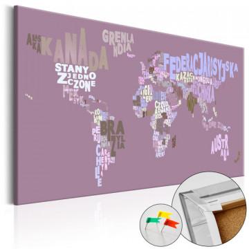 Tablou din plută - Fairytale World (PL) [Cork Map]
