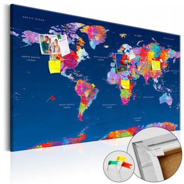 Tablou din plută - World Map: Artistic Fantasy