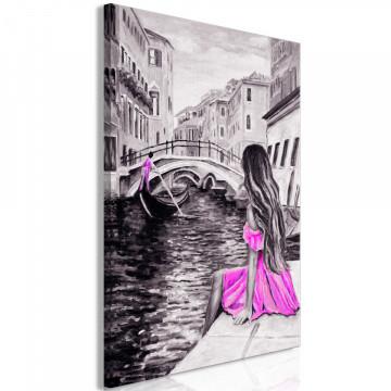 Tablou - Far Dreams (1 Part) Vertical Pink