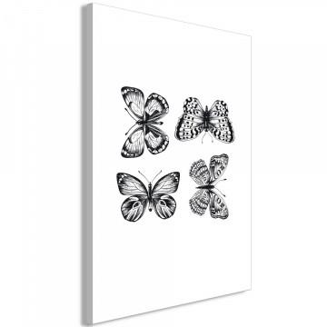 Tablou - Four Butterflies (1 Part) Vertical