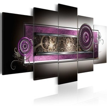 Tablou - Gold meanders in purple