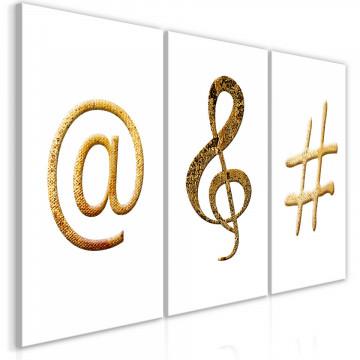 Tablou - Golden Signs (3 Parts)
