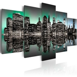 Tablou - Inspiring lights of NYC - 5 pieces