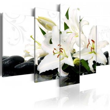 Tablou - Lilies and zen stones