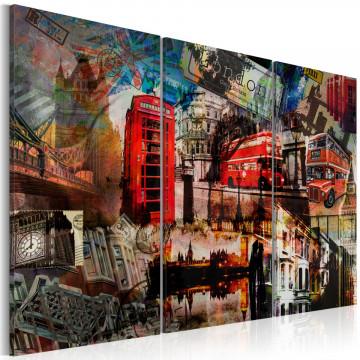 Tablou - London collage - triptych
