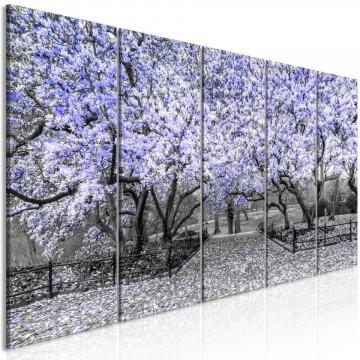 Tablou - Magnolia Park (5 Parts) Narrow Violet