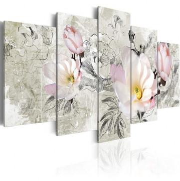 Tablou - magnolia - retro style