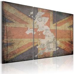 Tablou - Map of Great Britain - triptych