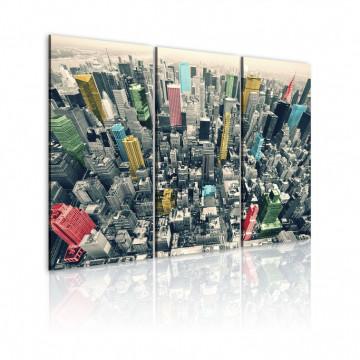 Tablou - New York, black&white&colors