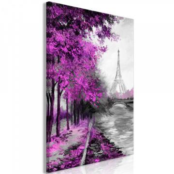 Tablou - Paris Channel (1 Part) Vertical Pink