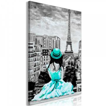 Tablou - Paris Colour (1 Part) Vertical Green