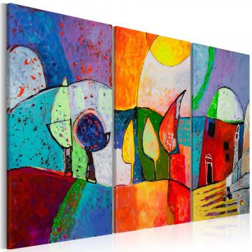 Tablou pictat manual - Colourful landscape