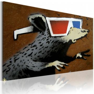 Tablou - Rat with 3D glasses (Banksy)