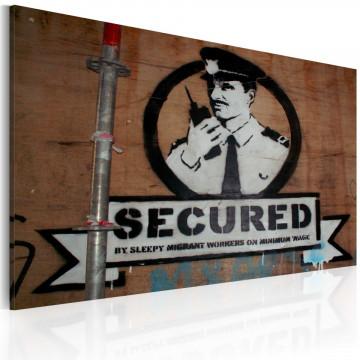 Tablou - Secured (Banksy)