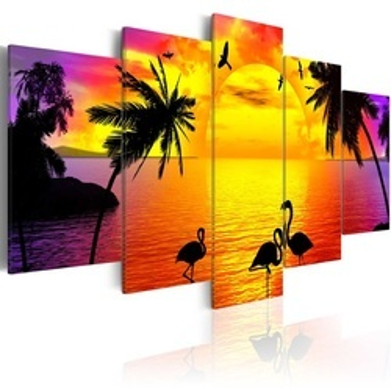 Tablou - Sunset and Flamingos