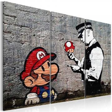 Tablou - Super Mario Mushroom Cop by Banksy