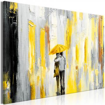Tablou - Umbrella in Love (1 Part) Wide Yellow