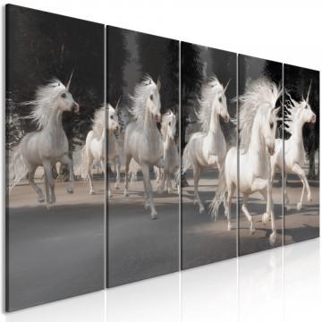 Tablou - Unicorns Run (5 Parts) Narrow