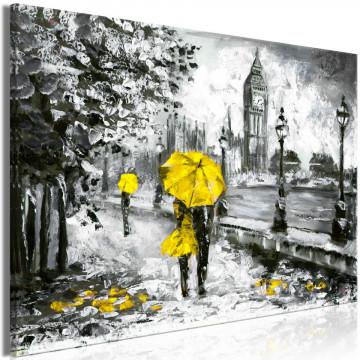 Tablou - Walk in London (1 Part) Wide Yellow