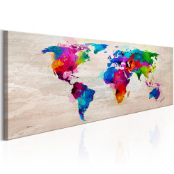 Tablou - World Map: Finesse of Colours